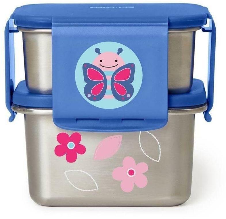 stalowe pudełko śniadaniowe motyl, skip hop