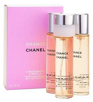 Chanel Chance woda toaletowa uzupełnienie dla kobiet 3 x 20 ml