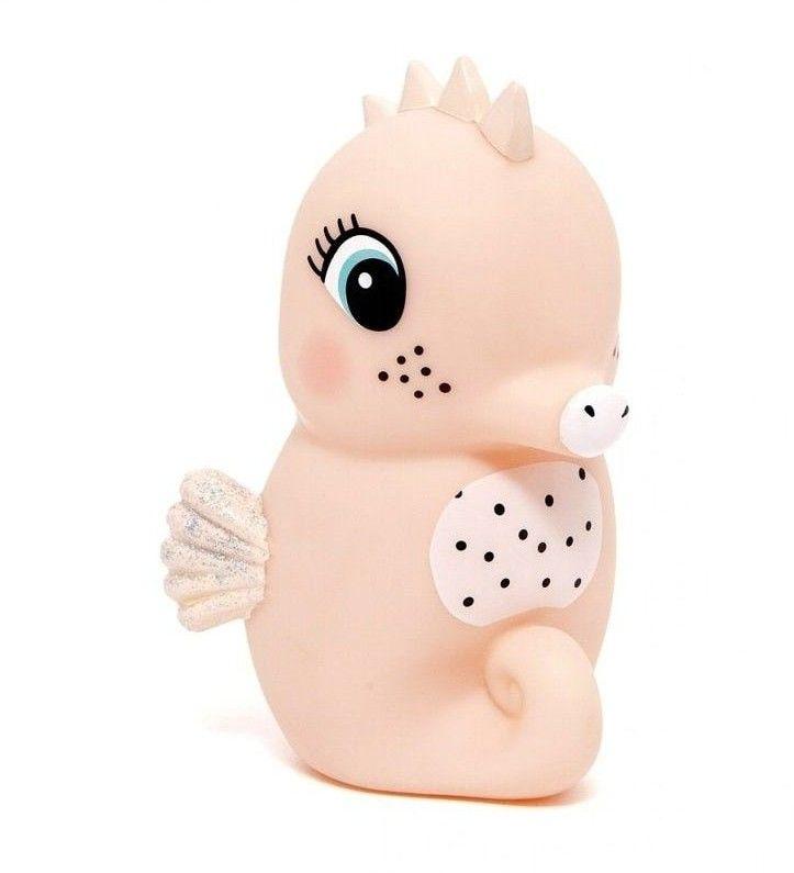 Petit Monkey - Miękka Pastelowa Lampka Nocna Led Konik Morski Brzoskwiniowy