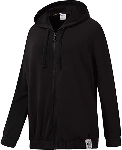 Reebok Damska bluza Ac Ft Fz Hoodie Jacket, czarna, L