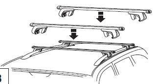bagażnik dachowy - belki poprzeczne Transit Connect - oryginał