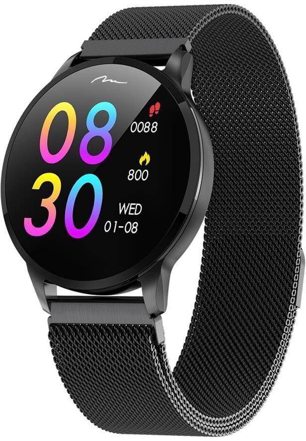 ACTIVE-BAND GENEVA - Opaska typu smartband Bluetooth, pomiar ciśnienia pulsu, ciśnienia krwi i natlenienia, licznik kroków i przebytego dystansu, monitor snu, kalkulacja spalonych kalorii, przypomnienie o ruchu, zegarek, metalowa bransoletka