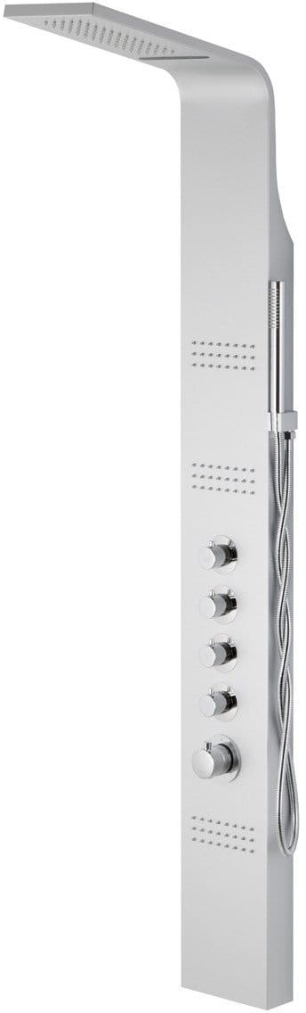 Corsan Kaskada panel prysznicowy z mieszaczem gwiezdna szarość A-014AM KASKADA SREBRNY