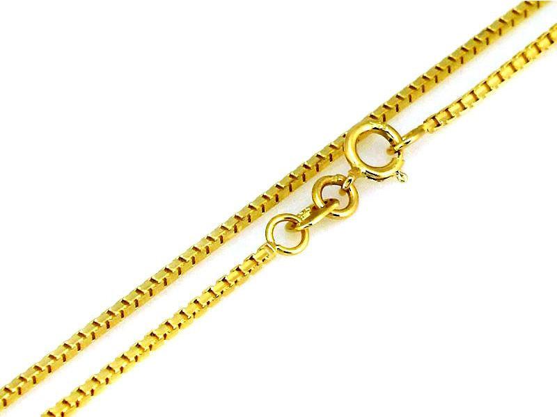 Złoty łańcuszek 585 splot kostka 50 cm prezent 2,65 g