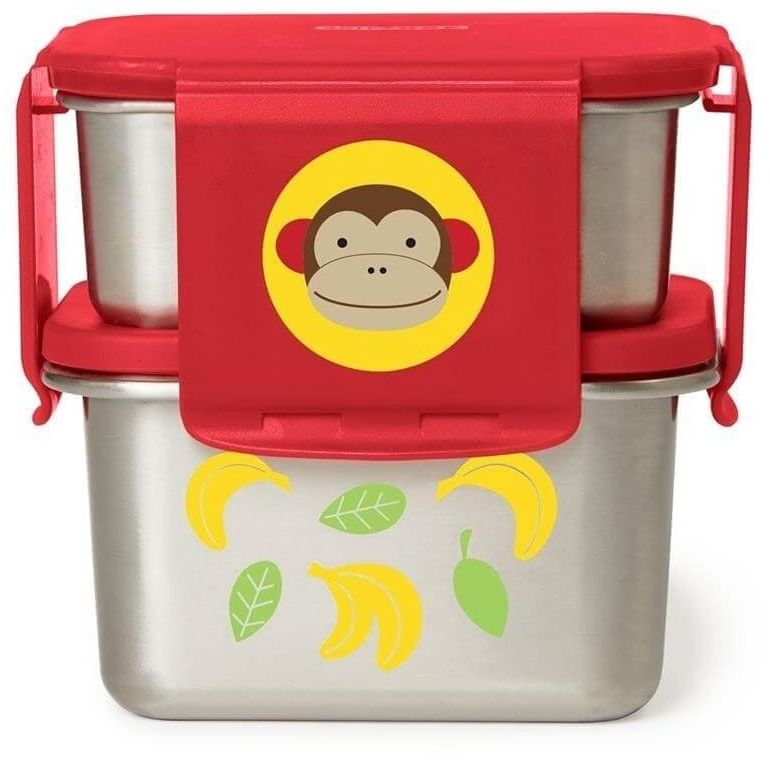 stalowe pudełko śniadaniowe małpa, skip hop