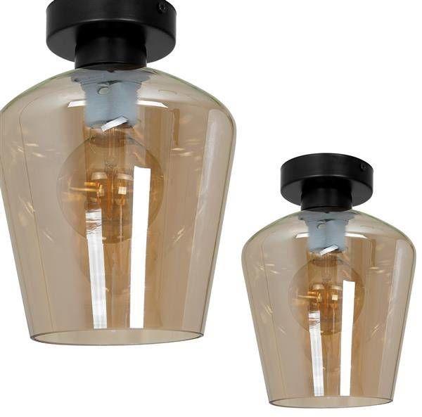 Nowoczesna lampa sufitowa plafon SANTIAGO AMBER MLP6604