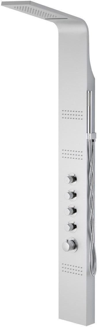 Corsan Kaskada panel prysznicowy z mieszaczem gwiezdna szarość led A-013AM NEW LED SREBRNY