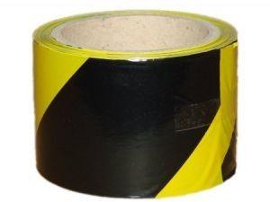 Taśma ostrzegawcza żółto-czarna 80mm x 100m do odgradzania