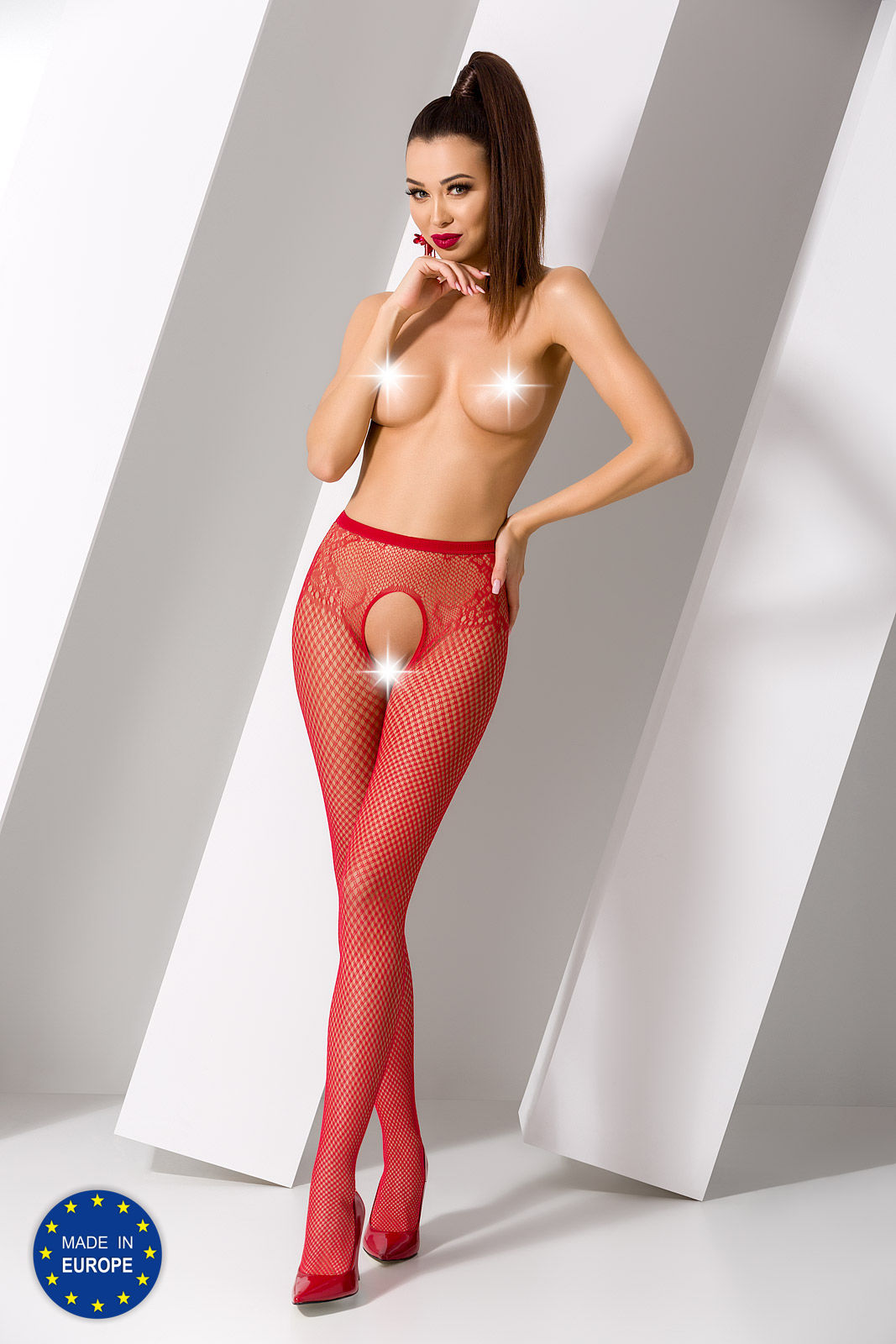 Passion S019 Tights Red