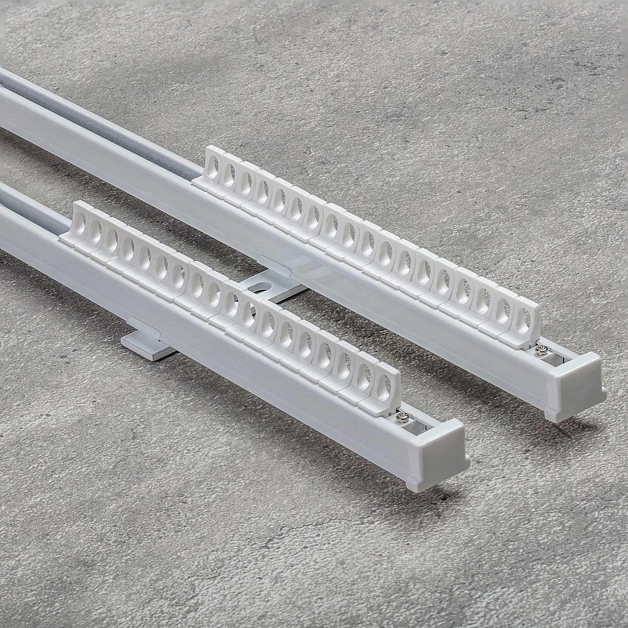 Komplet- szyna przysufitowa aluminiowa TS podwójna 180cm