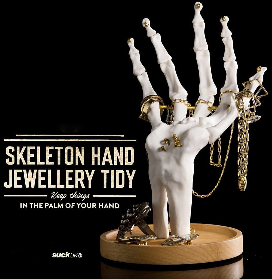 Stojak na biżuterię dłoń Skeleton Hand