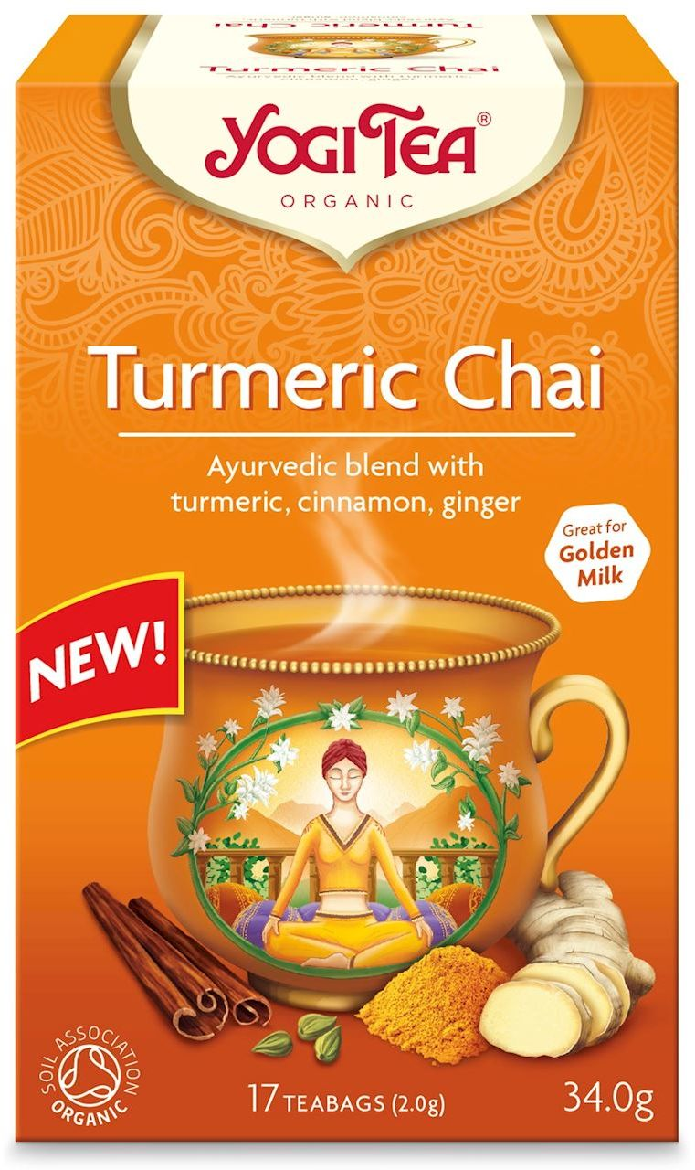 Herbatka złoty chai z kurkumą bio 17 x 2 g 34 g - yogi tea