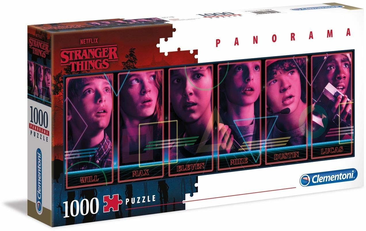 Clementoni 39548 Stranger Things Things-1000 szt. Panorama puzzle