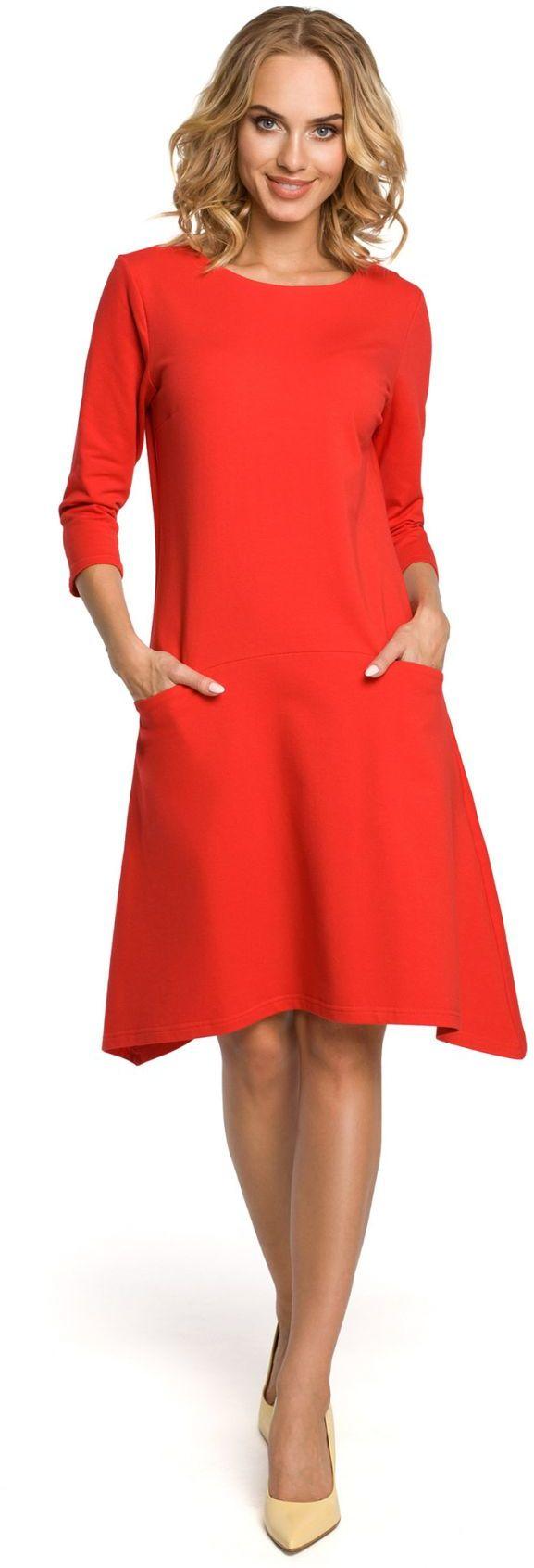 M328 Sukienka czerwona