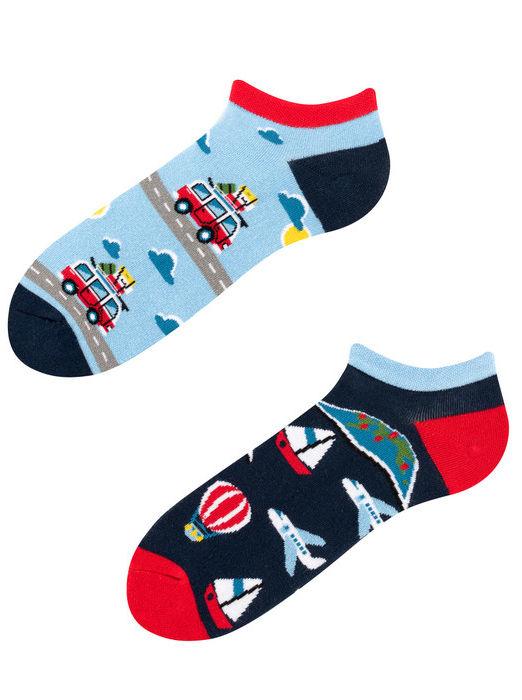 Stopki, Adventure Socks Low, Todo Socks, Podróże, Pojazdy, Kolorowe