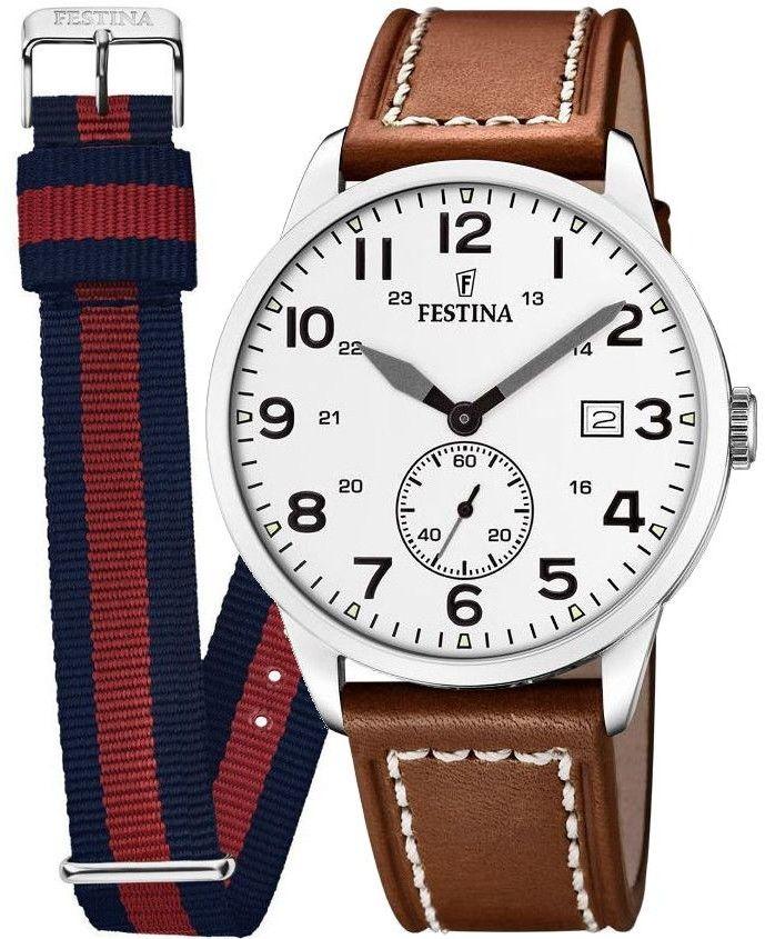 Zegarek Festina F20347-5 Retro - CENA DO NEGOCJACJI - DOSTAWA DHL GRATIS, KUPUJ BEZ RYZYKA - 100 dni na zwrot, możliwość wygrawerowania dowolnego tekstu.