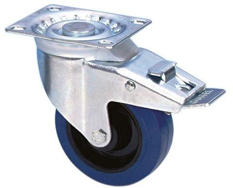 Guitel 37024 kółko zwrotne 100 mm z niebieską oponą i ogranicznikiem