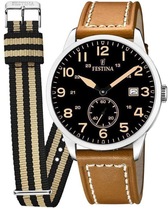 Zegarek Festina F20347-6 Retro - CENA DO NEGOCJACJI - DOSTAWA DHL GRATIS, KUPUJ BEZ RYZYKA - 100 dni na zwrot, możliwość wygrawerowania dowolnego tekstu.