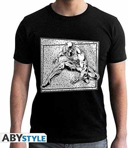 """Abystyle Marvel T-Shirt""""Black Panther Wakanda"""" - męski - czarny (XXL)"""