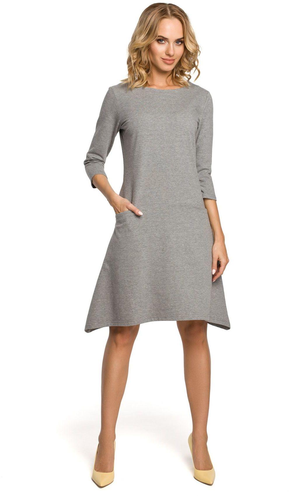 M328 Sukienka szara