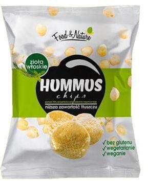 Chipsy bezglutenowe z ciecierzycy Włoskie Zioła 40 g Food&Nature
