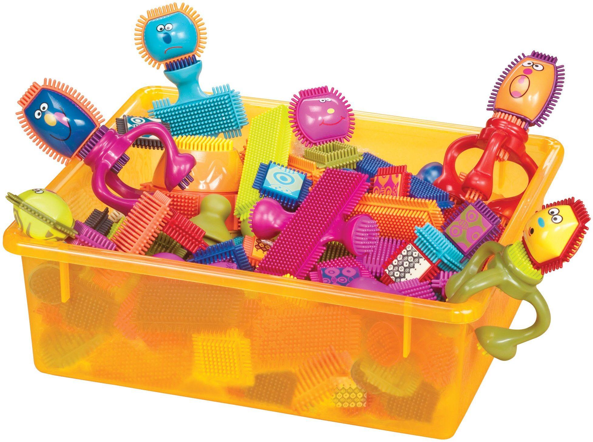 B. toys - Spinaroo bloku włosia - oficjalne bloki z włosia - zabawki klocki dla małych dzieci (75 sztuk)