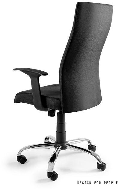 UNIQUE Fotel obrotowy BLACK ON BLACK