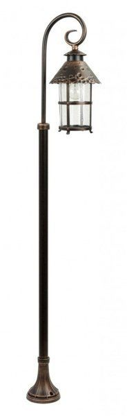 Lampa stojąca masztowa ozdobna TOLEDO K 5002/1/R miedź