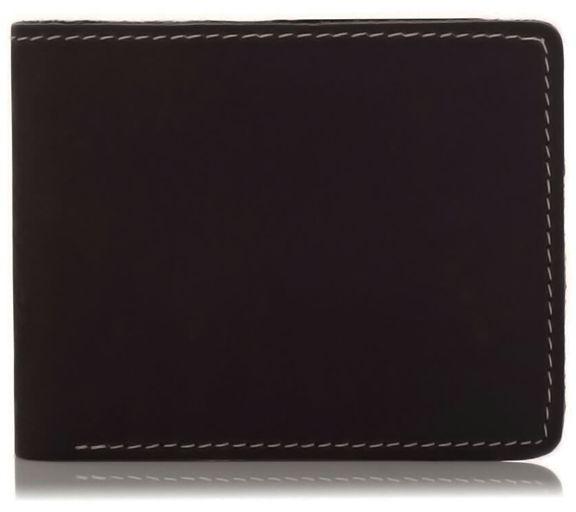 Slim wallet skórzany męski ciemny brąz BW04
