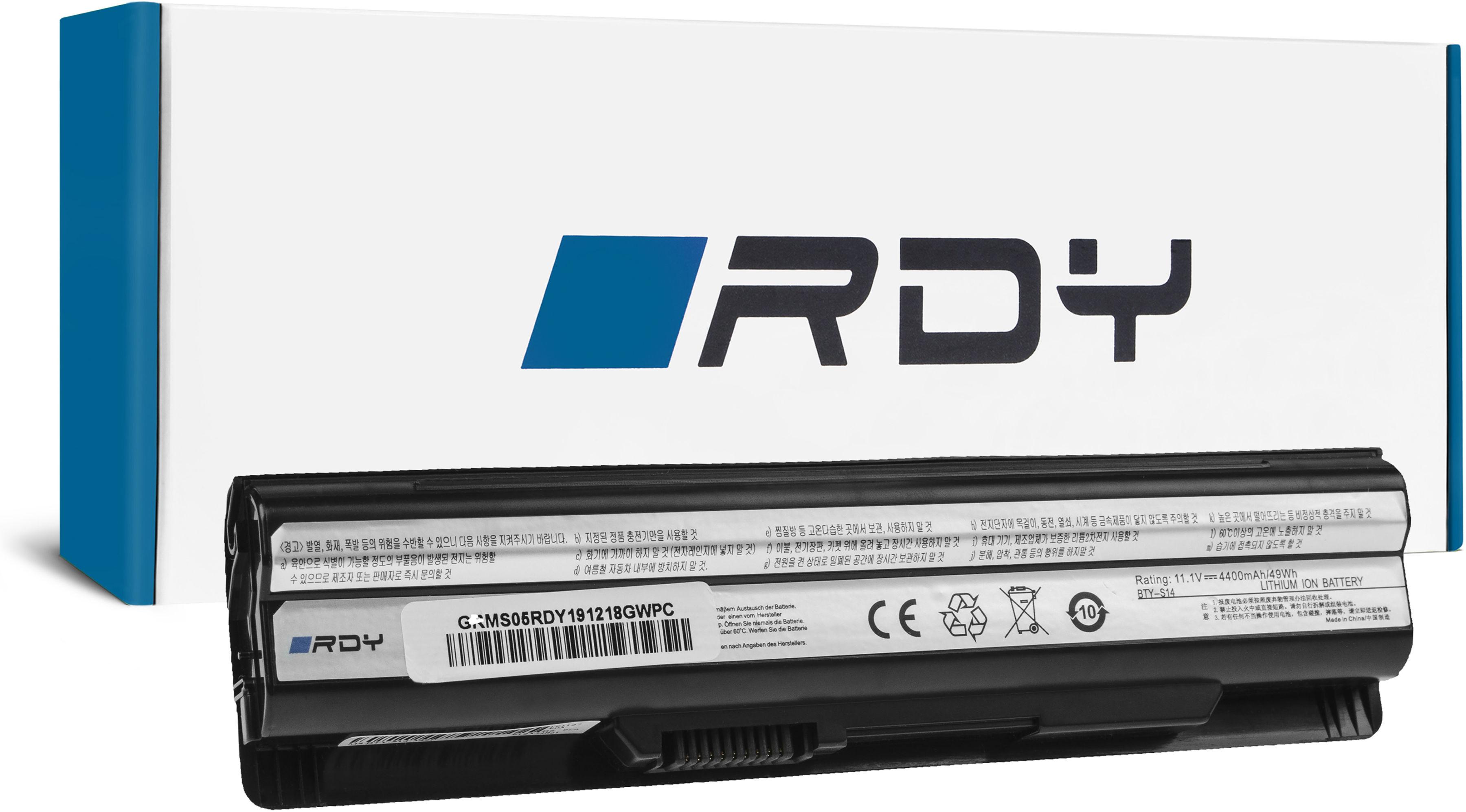 Bateria RDY BTY-S14 BTY-S15 do MSI CR61 CR650 CX650 FX600 GE60 GE70 GE620DX GP60 GP70