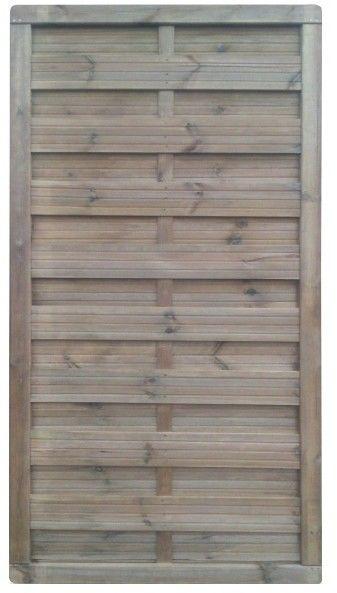 Płot drewniany Blooma 90 x 180 cm brązowy rama 40 x 60 mm