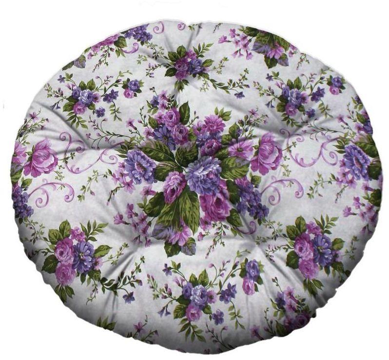 Poduszka okrągła Brasil Blumen fioletowa śr. 65 cm