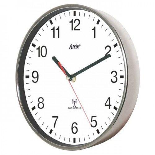 Zegar chromowany sterowany radiowo #2