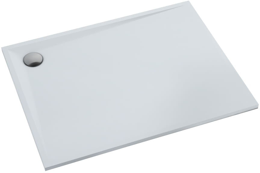 Schedpol Libra Smooth White brodzik z stonicrylu 80x100 cm biały 3SP.L1P-80100