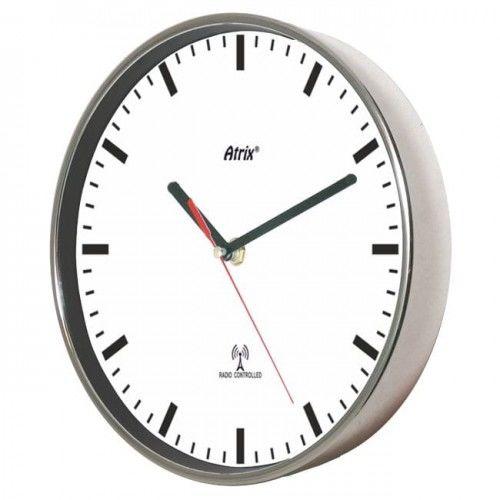 Zegar chromowany sterowany radiowo #3