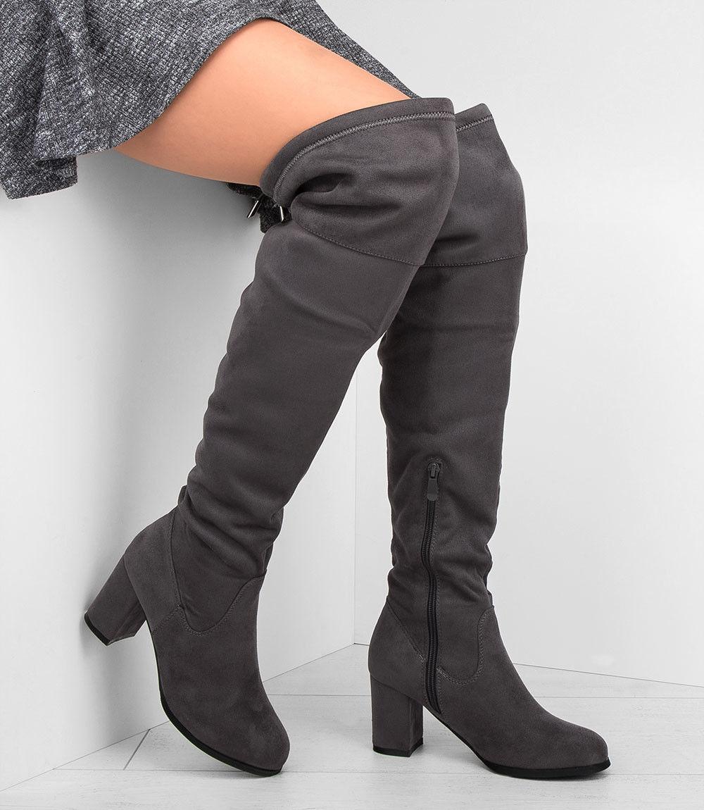 Kozaki damskie L.Lux.Shoes JKD-61 Szare