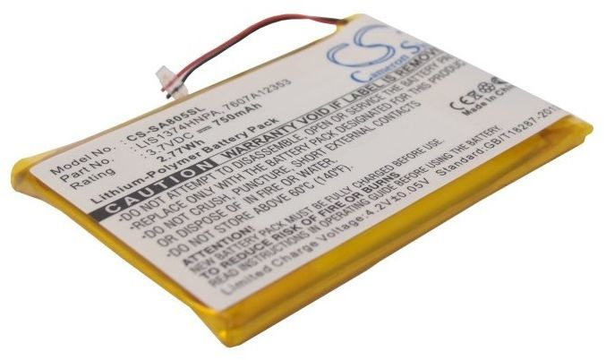 Sony NW-A805 / 1-756-702-11 750mAh 2.77Wh Li-Polymer 3.7V (Cameron Sino)