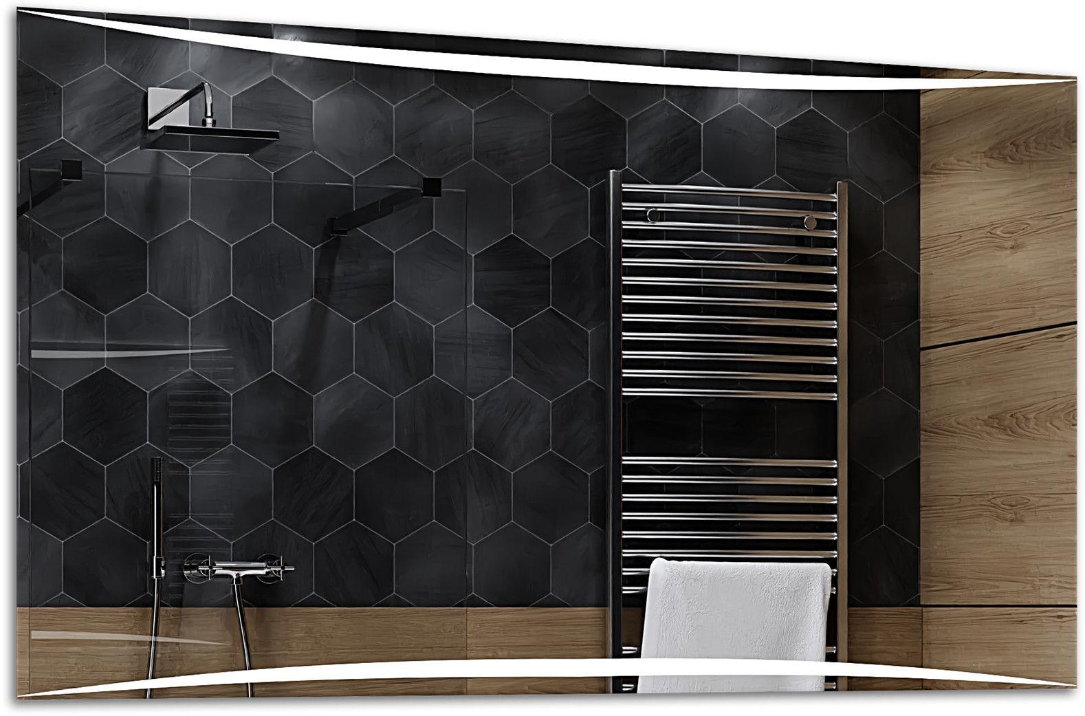 Alasta Lustro Łazienkowe z Podświetleniem LED - rozmiar 80x60cm - zimny kolor LED - Model Wilno