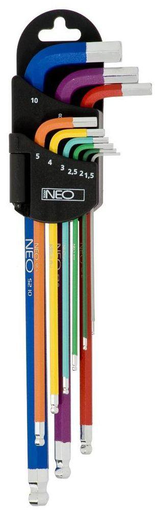 Zestaw kluczy imbusowych 1.5 - 10 mm 09-512 9 szt. NEO