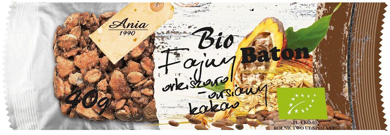 Baton orkiszowo - owsiany z kakao bio 40 g - bio ania