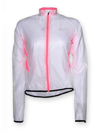 ROGELLI CANELLI damska kurtka rowerowa, przeciwdeszczowa, kolor: transparent-pink Rozmiar: L,rogelli-canelli-transp