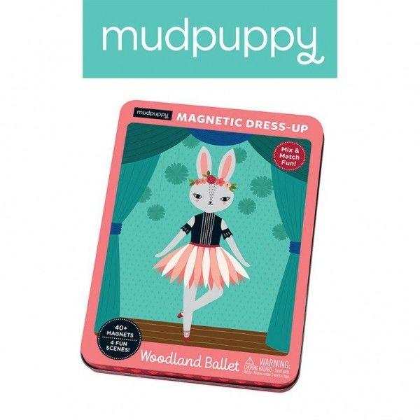 Mudpuppy - Magnetyczne Postacie Leśne Baletnice 4+
