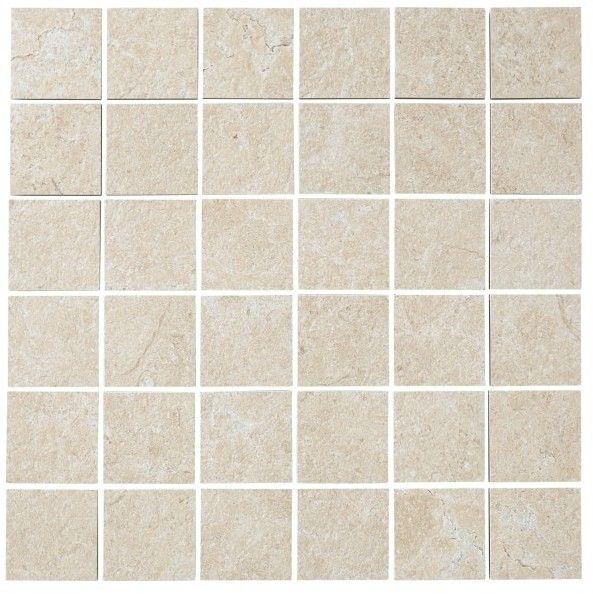 Mozaika Soft lime stone Colours 30 x 30 cm ciepły kremowy