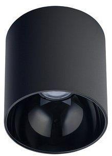 Spot sufitowy designerski tuba POINT TONE czarny śr. 12,7 cm