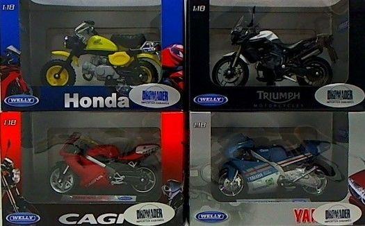 Motocykl metalowy Welly DROMADER 130-12144