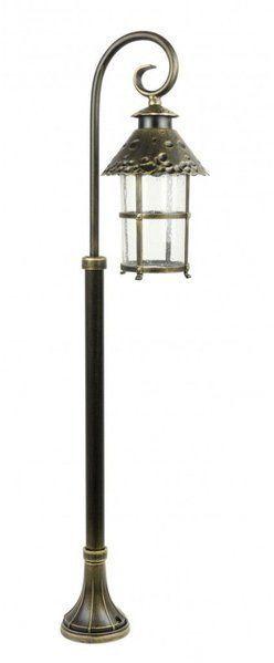 Lampa stojąca masztowa ozdobna 116cm TOLEDO K 5002/2/R mosiądz