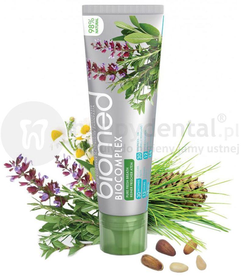 Splat BIOMED BIOCOMPLEX 100g - pasta odświeżająca o bogatej zawartości ekstraktów roślinnych zawierająca hydroksyapatyt