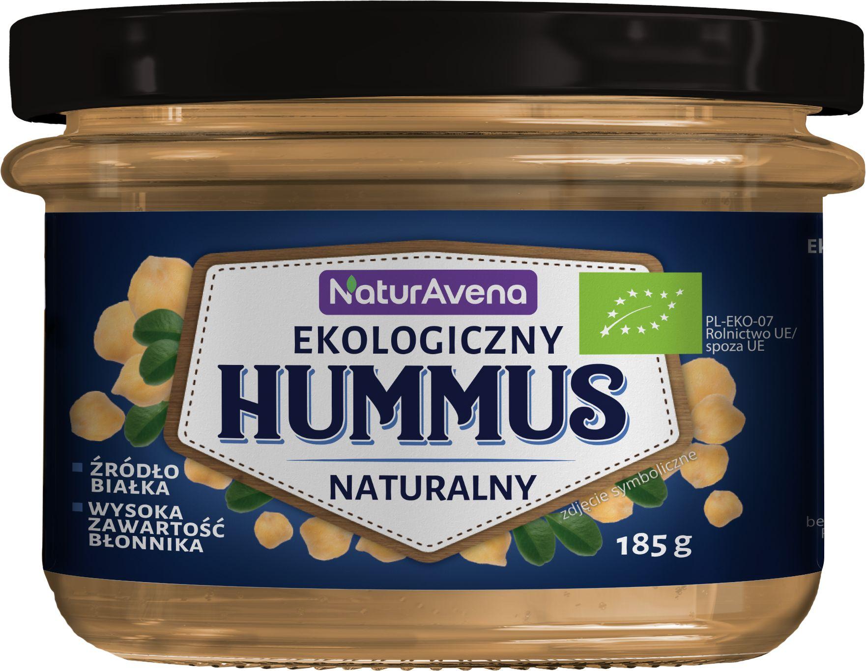 Hummus Naturalny BIO 185g - NaturAvena