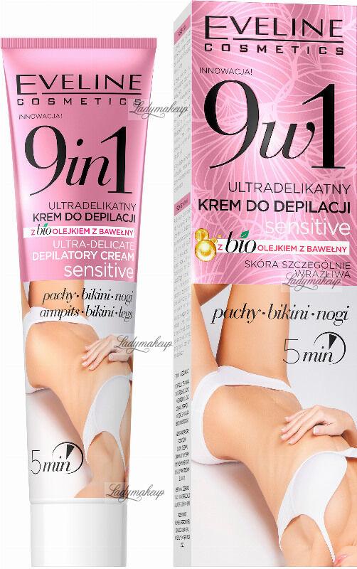 Eveline Cosmetics - Ultradelikatny krem do depilacji pach, bikini i nóg z olejkiem - Skóra szczególnie wrażliwa - 9w1 - 125 ml