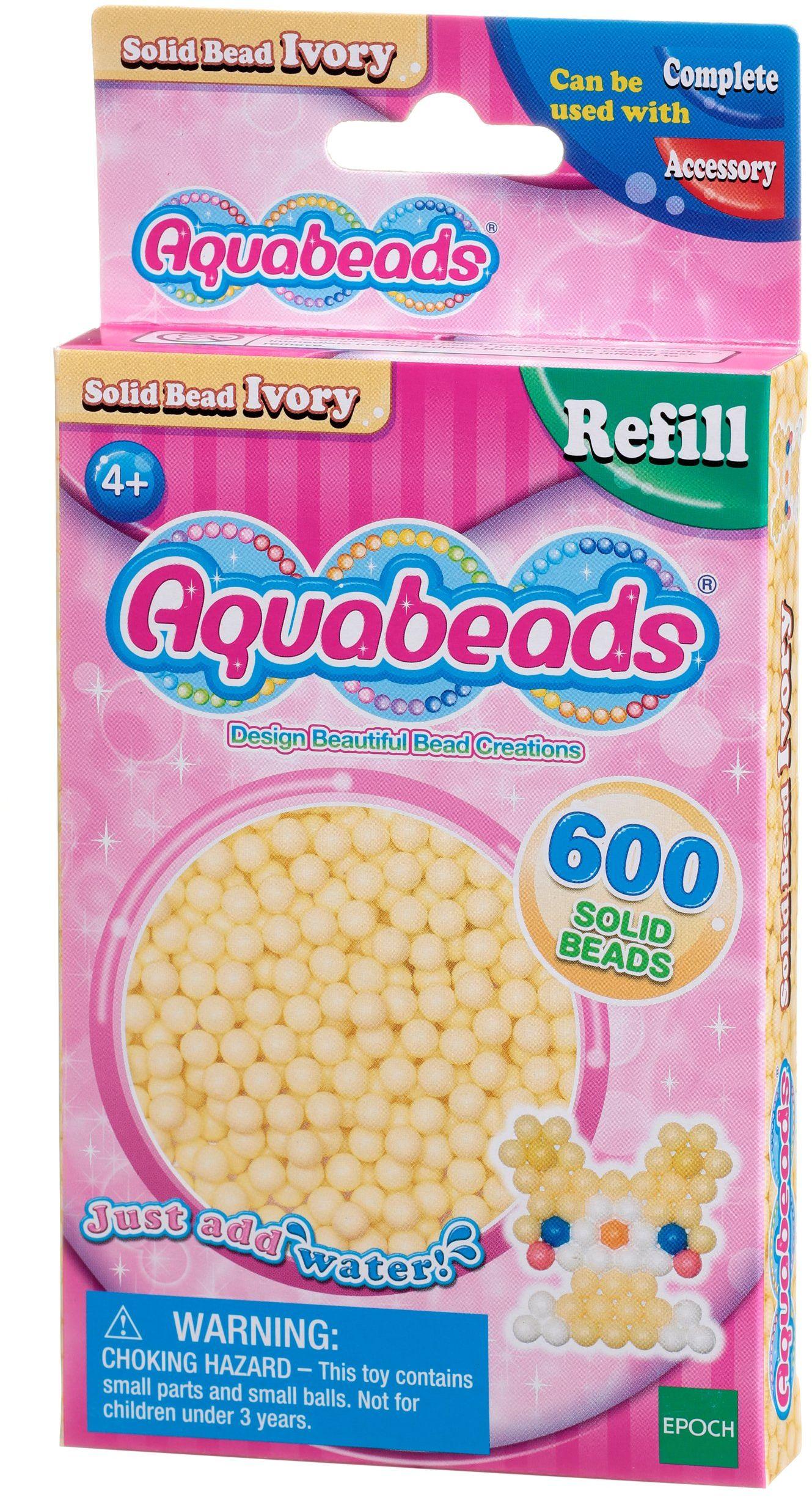Aquabeads - Solidne koraliki - kość słoniowa